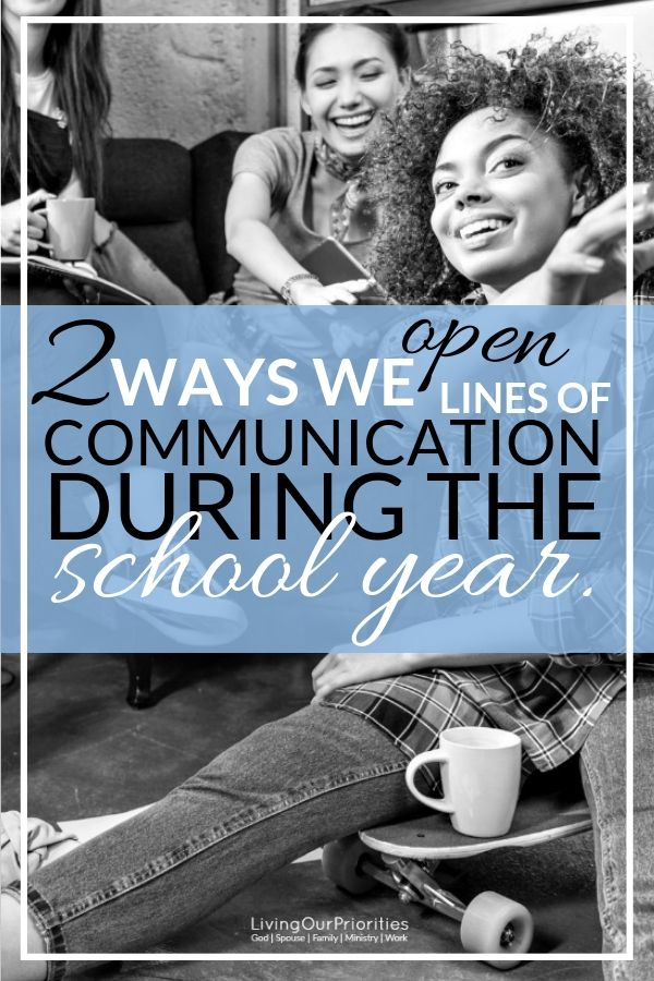 Communicating with today's generation of kids, isn't easy. Learn two ways to open the lines of communication with children, especially during the school year. #backtoschool #communication #livingourpriorities