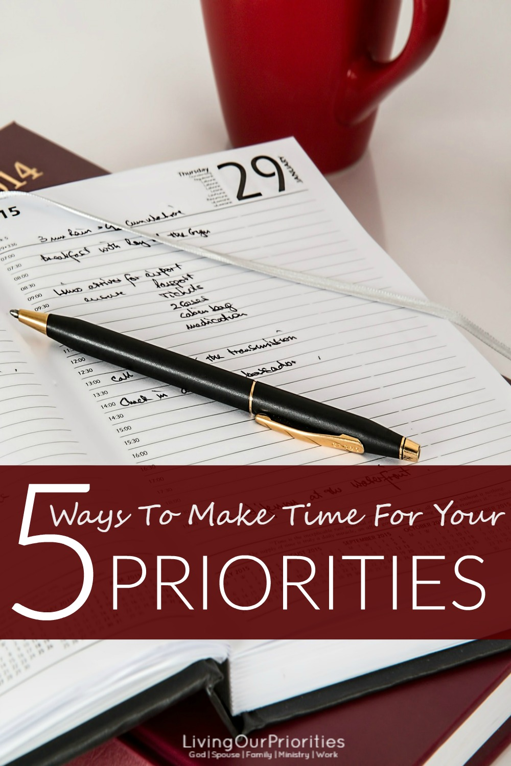 We are often asked how do we find the time to do all that God has called us to do without neglecting our priorities. The answer is in this blog!