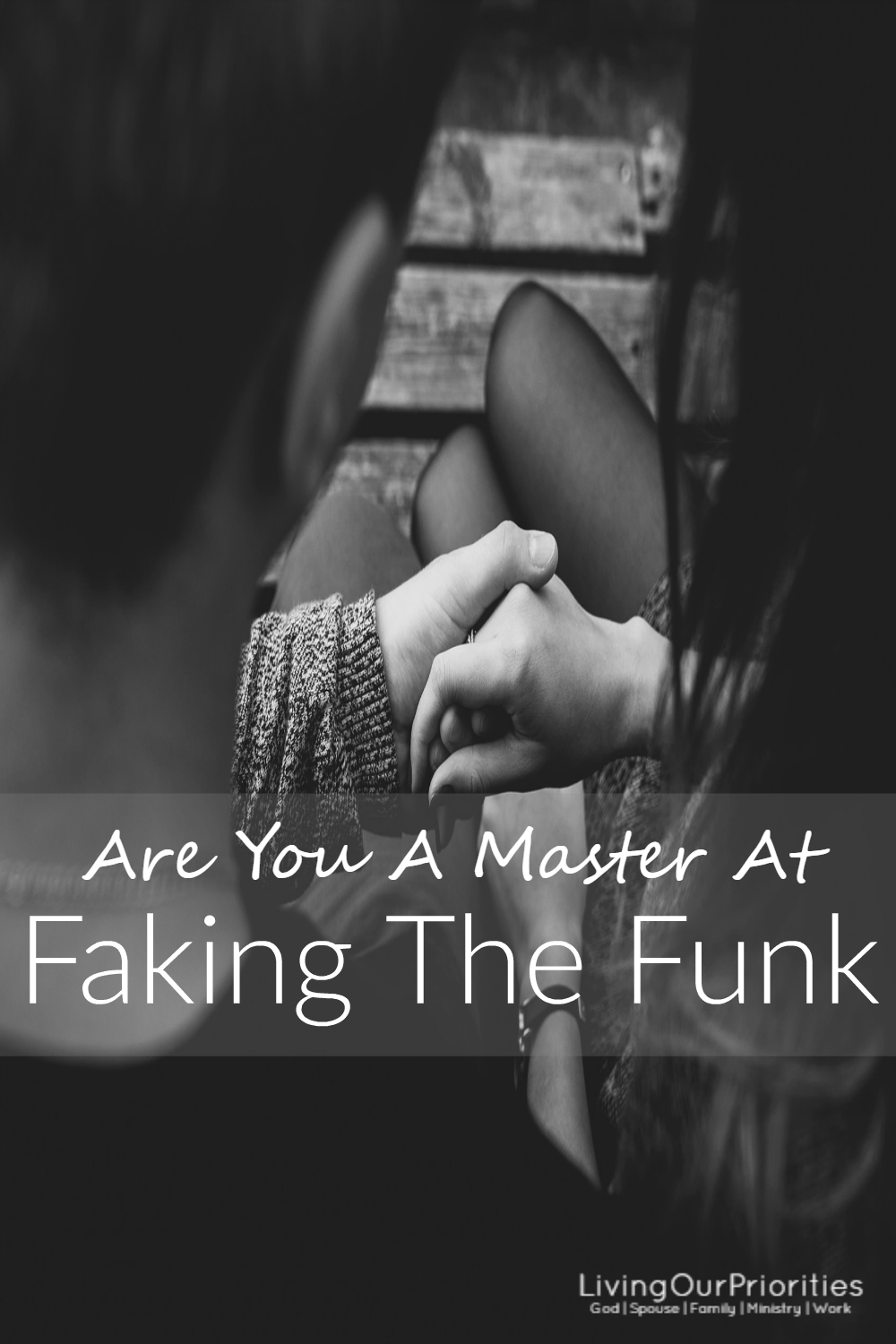 We all do it…faking the funk; at work, around friends, around family even at church. We all put on a front that everything is ok when, in reality, it's not! Can others tell, is this right or wrong? Find out now!