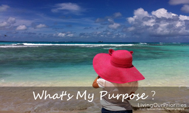 Have life's circumstances had you wondering; what's your purpose?