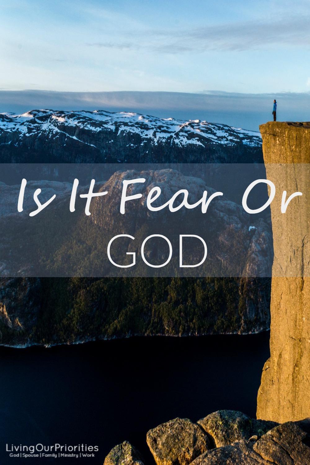 Have you ever wondered if a decision you made was prompted by fear or God himself?