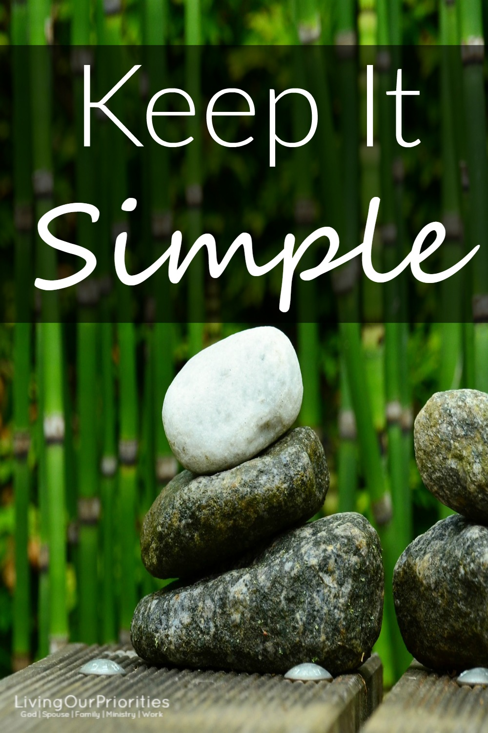 Life in itself can weigh us down. But there is hope, we can choose to keep it simple!