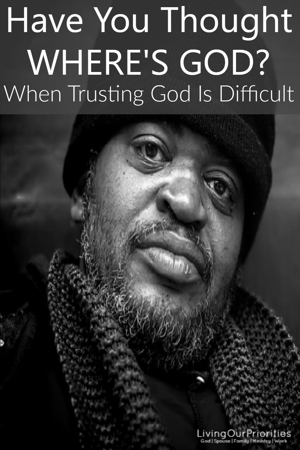 Do you find yourself in a place where you don't trust people, you don't trust your spouse or more importantly you don't trust God?