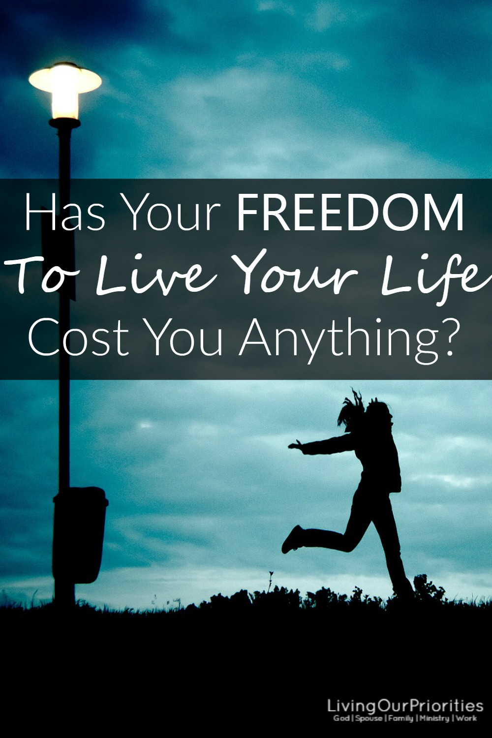 Has your freedom to live your life, the way you want, cost you anything? Even if you've made poor decisions, you have the power to change that.