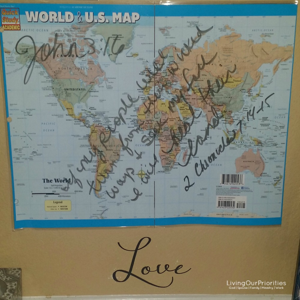Reminder for your war room to pray for the world. For God so loved the world, He gave His only-begotten son!