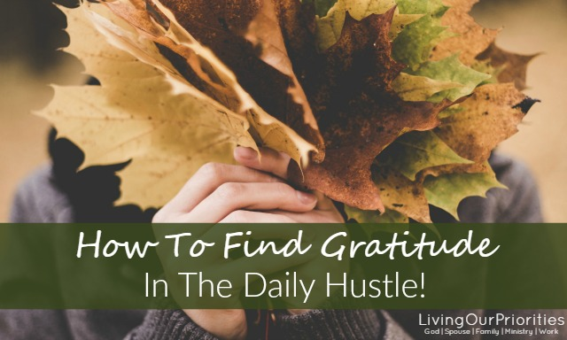 When we live a life a gratefulness it creates a spirit of thanksgiving.