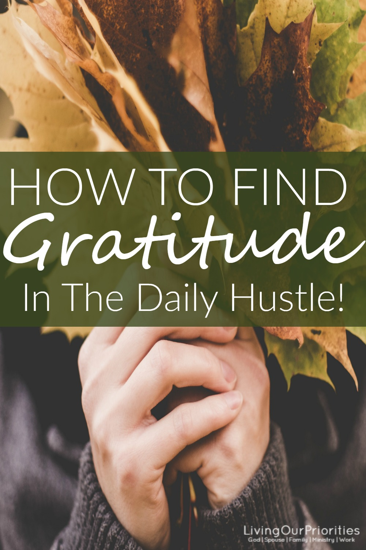When we live a life a gratefulness it creates a spirit of thanksgiving.