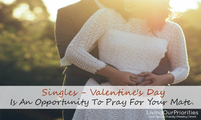 Valentine's Day is not single awareness day! It's an opportunity to pray for your future mate.