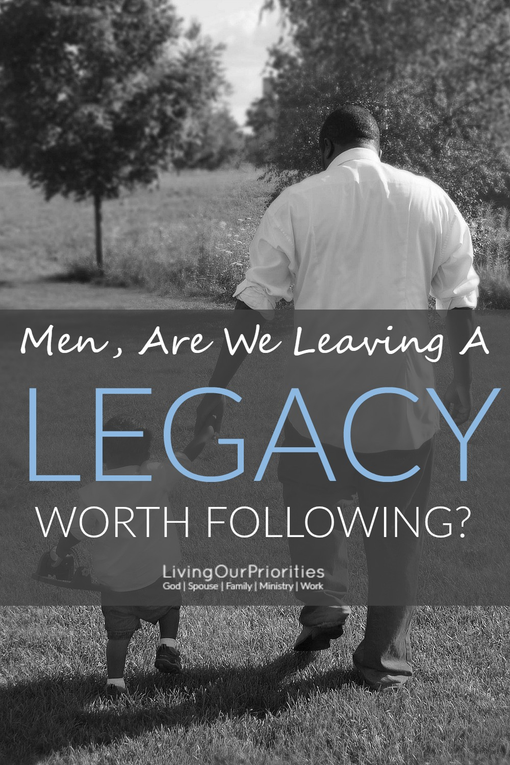 When we think of leaving a legacy, we think of leaving behind things of value. While that's good, it's just that…THINGS. A legacy is so much more than material things. It's a legacy built on moral stability, and that's leaving a legacy worth following.