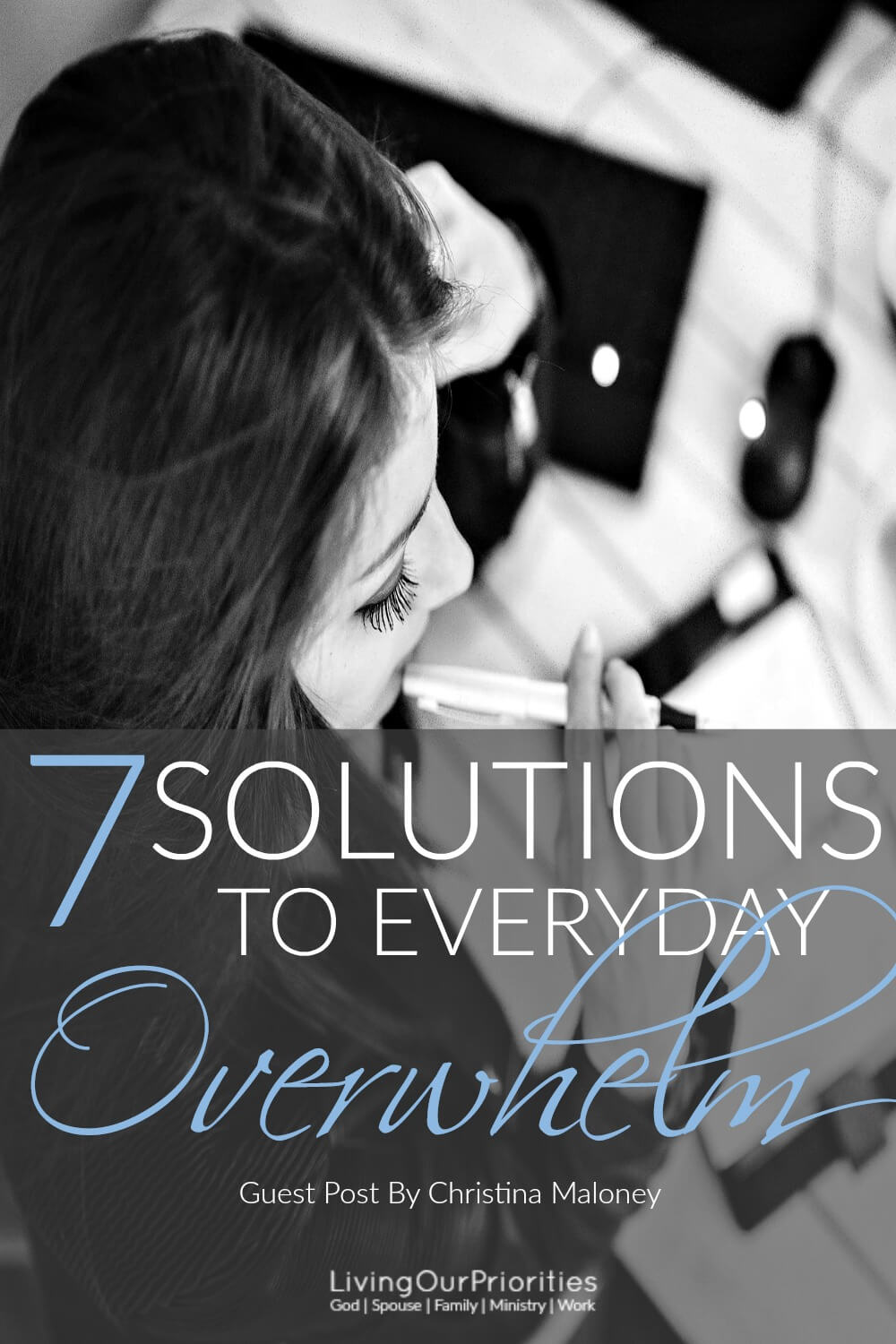 "There's more ""to do"" than can ever get done. That revelation alone, is overwhelming. Here are 7 solutions to everyday overwhelm, that you can do right now; to reclaim peace, and productivity!"