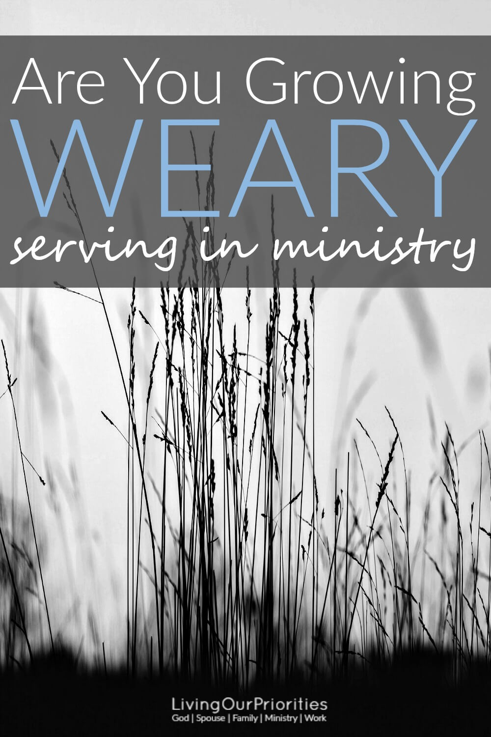 Ministry burnout is common. And while serving in the ministry is a good thing, we often find ourselves growing weary. But are we really stretched too thin or are we just weary? Learn how to determine the root to your weariness.