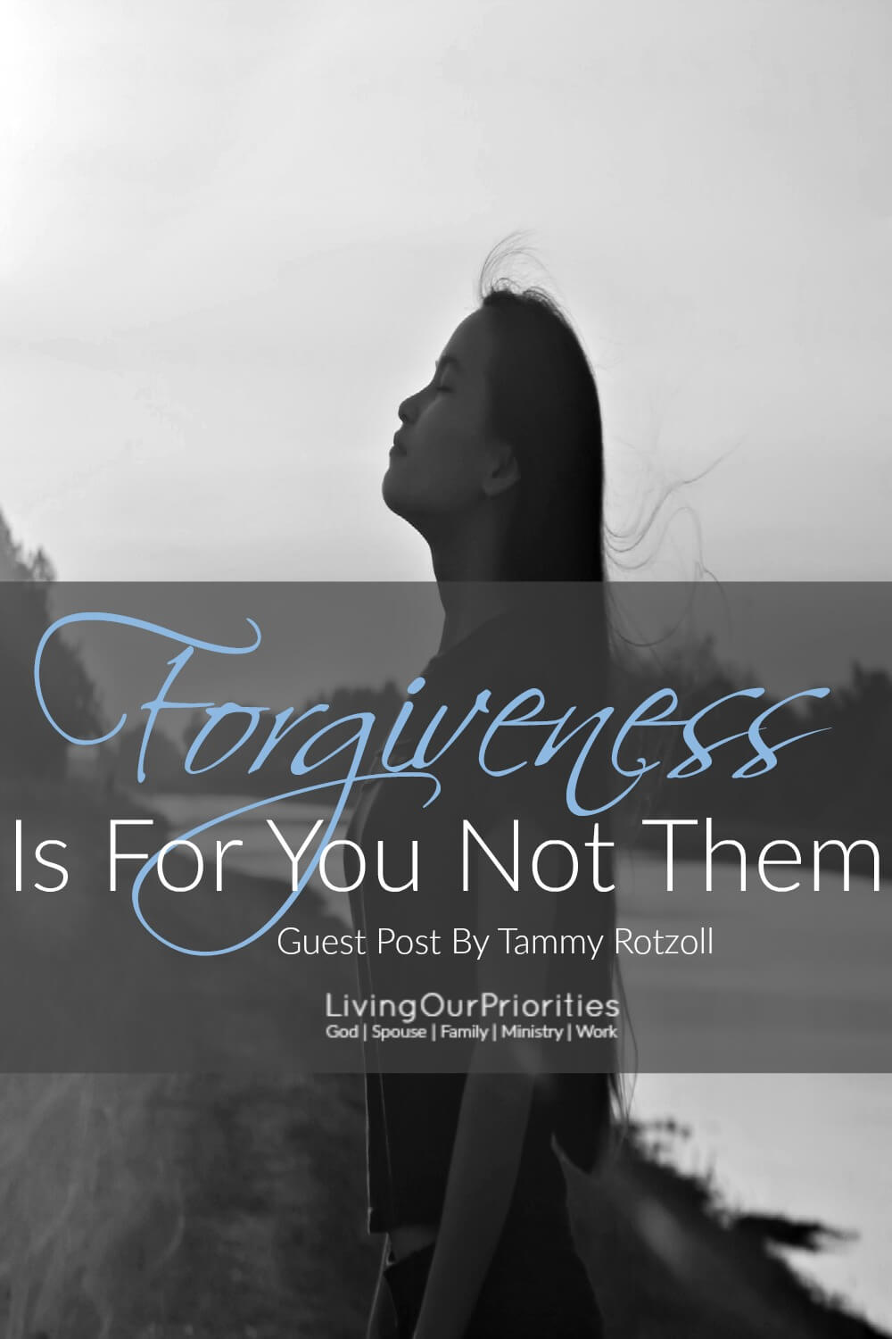 Are you holding on to a past hurt that you just can't seem to move past? Maybe getting past the hurt starts with one word… FORGIVENESS. Tammy Rotzoll from Footprints of Inspiration, join us as a guest writer and explains how forgiveness is not for the person who hurt you, it's for you!