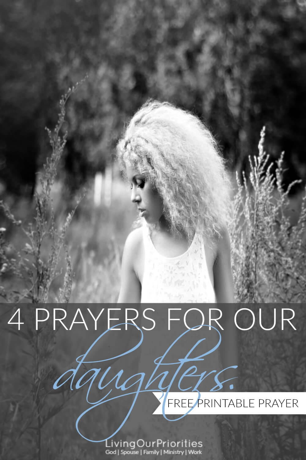 Raising our daughters is no small feat today. But with God's help and through prayer we can help lead our daughters on the right path. Learn how with 4 prayers for daughters.