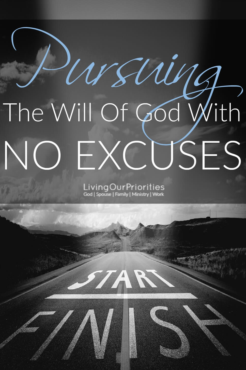 We're all guilty of blaming people, or life-circumstances for why we haven't obeyed the call on our life. Whether we fulfill the purpose God has for us or not, has very little to do with anyone else, or our circumstances. The results all depend on us. If you're ready to pursue God's will in your life with no excuses, then we invite you to read this post. #noexcuses #livingourpriorities