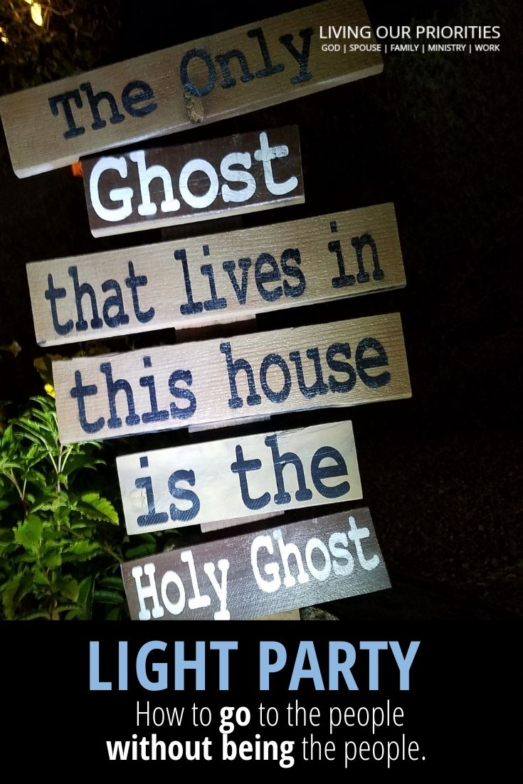How to host a Light Party with social distancing. #lightparty #livingourpriorities