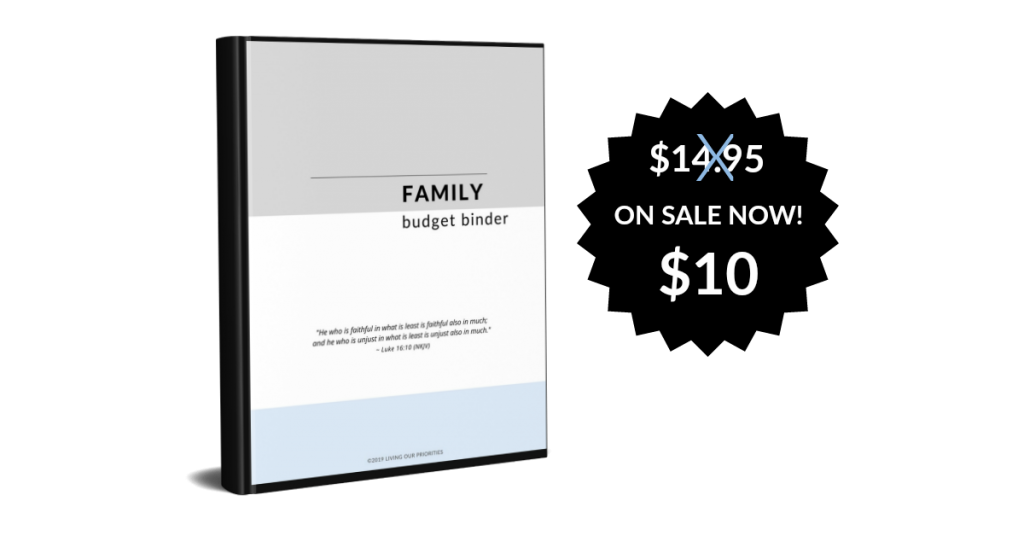 Family Budget Binder - bringing peace and order to your finances. #budget #finances #livingourpriorities
