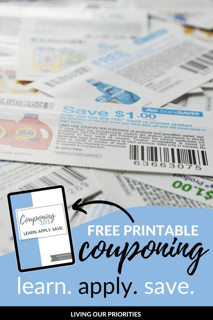 Learn how to coupon to balance your monthly budget. #couponing #freeprintable #livingourpriorities