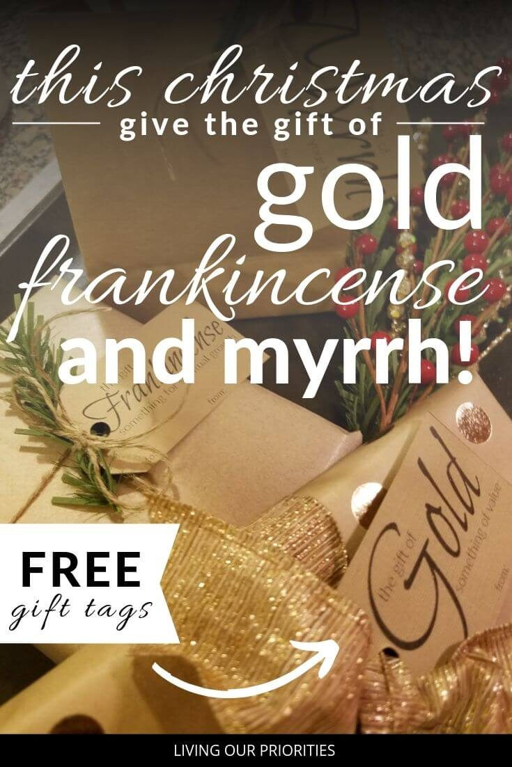The wise men brought gifts that were purposeful and intentional to Christ. We too can give the gift of Gold Frankincense and Myrrh