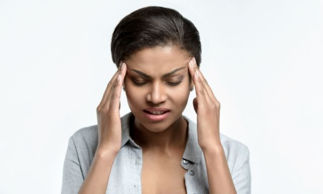 Learn how to fascia blast to relieve migraines #fasciablasting #fasciablaster #migraines #livingourpriorities