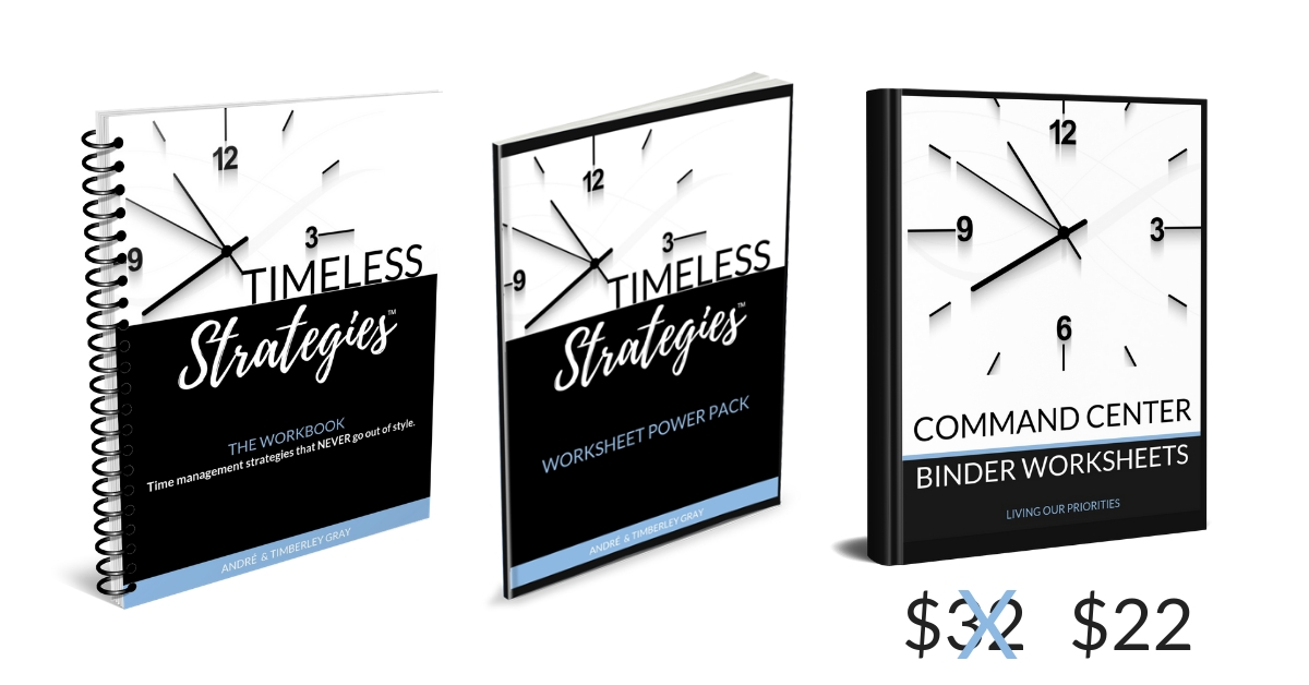 Timeless Strategies™ Workbook | Time Management strategies that never go out of style. #timemanagement #timeblocking #planner #livingourpriorities