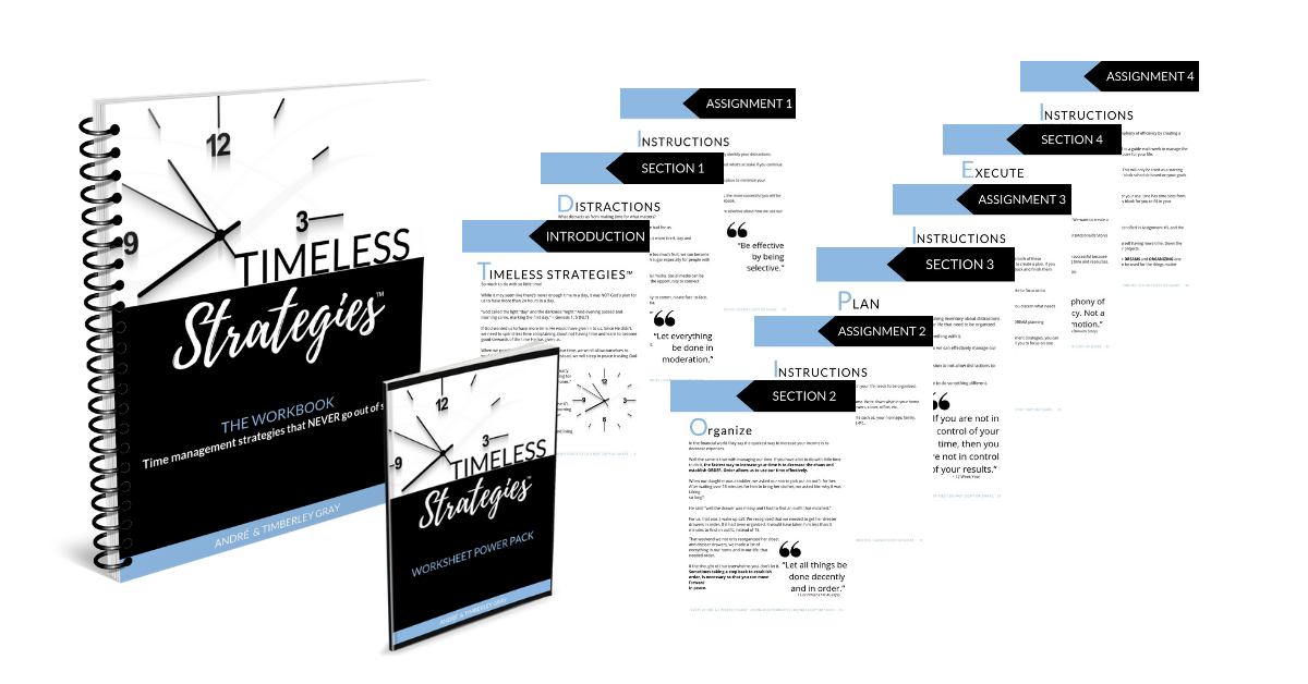 Timeless Strategies Workbook | Time Management strategies that never go out of style. #timemanagement #timeblocking #planner #livingourpriorities