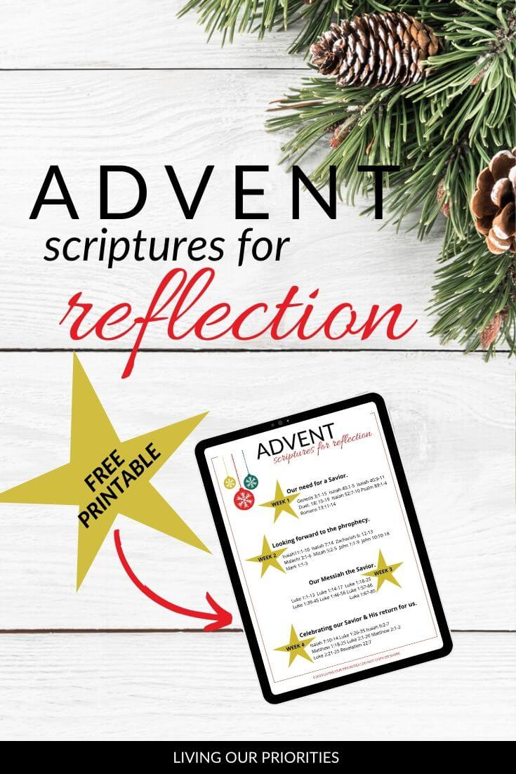 We can choose to keep Christ the center of Christmas through advent scriptures for reflection.