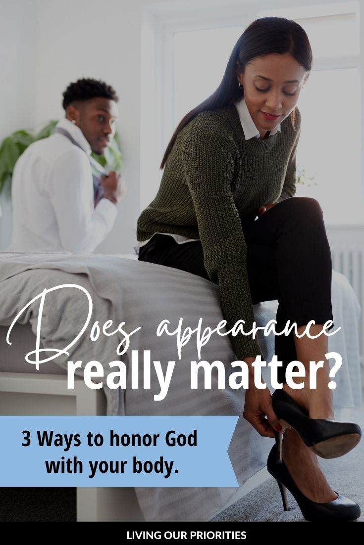 The Bible tells us that God looks at the heart and man looks at the outward appearance. But doesn't the outside say something about what's on the inside? Read more to find out!