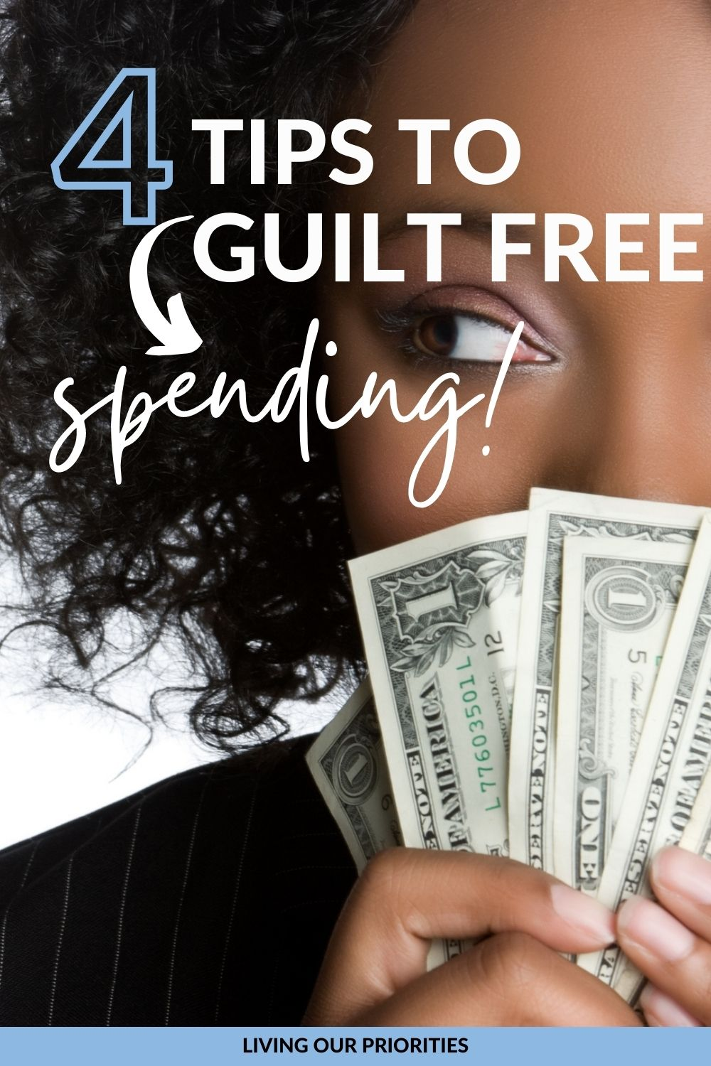Ladies stop feeling guilty for spending money on things you need! Learn to buy what you need using these 4 guilt free spending tips while keeping your peace!