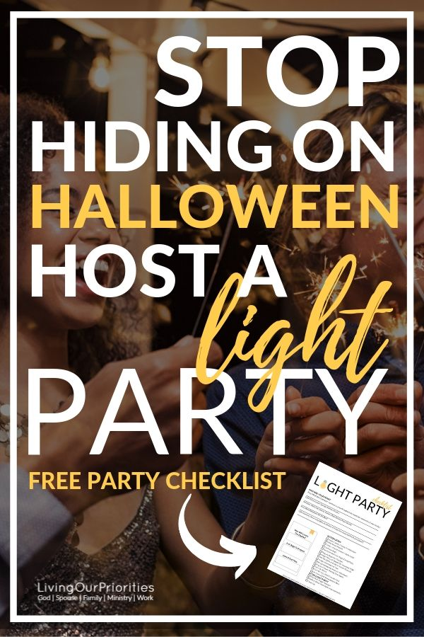 Halloween is an opportunity to BE the light on the darkest day of the year. Find out why we host a light party and how you can too! #lightparty #bethelight #kids #halloween #indoor #outdoor #christian #night #ideas #shine #harvest #jesus