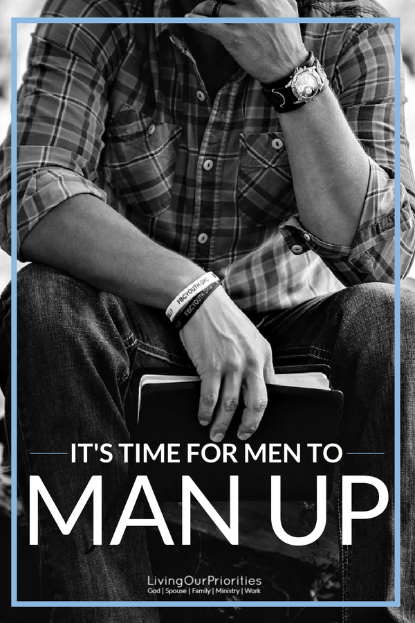 Our world is filled with many men, but few real men. Young boys today need to see real men of God man up and take back our families, our church, and our communities. Read more to learn how. #Formen #realmen #husband #godlymen #fathers