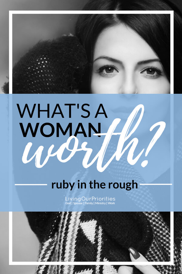 Woman today do it all! Whether they work inside or outside the home, woman are holding it down. But what does the Bible say about a woman's worth? #godlywomen #proverbs31 #wife #mother #virtuous #women #inspiration #motherhood #faith
