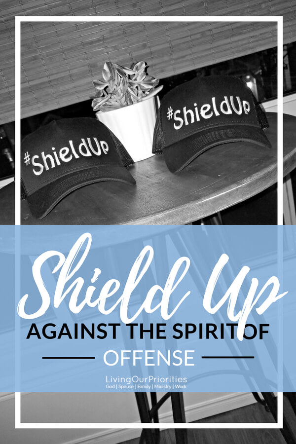 Do you walk in the spirit of offense? The truth is, all of us at one time or another, have either been offended or offended someone. But the good news is that we can identify the spirit of offense within us and shield up against it. #relationshipwithgod #encouragement #spiritual #thespiritofoffense #livingourpriorities #ShieldUp