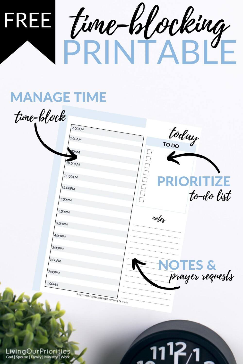 The truth about time management that will change your to-do list forever. #time-management #timemanagementstrategies #planner #worksheet #printable #timemanagementworksheet #livingourpriorities