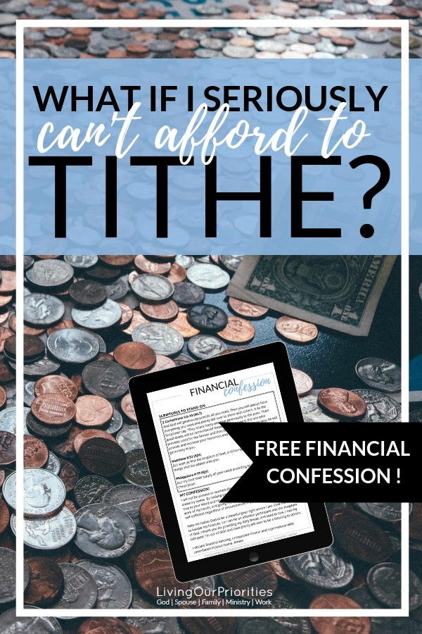 How can I tithe when I can barely pay my bills? #tithe #money #financialtips #stewardship #bible #livingourpriorities