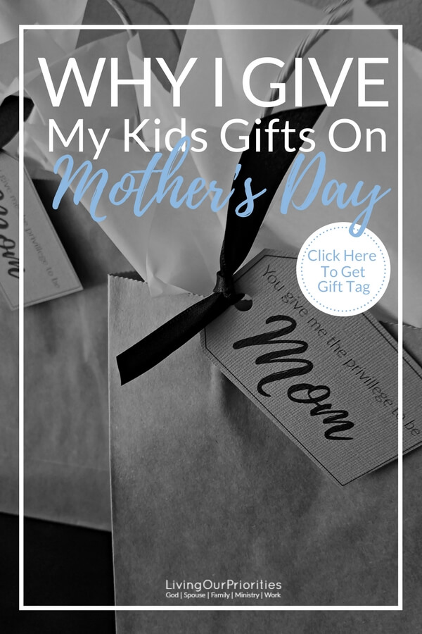 My greatest accomplishment in this life is raising the children God has given me. So on Mother's Day I actually buy them gifts. As it is only because of them, that I have the privilege to be called mom!